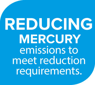 Reducing Mercury emissions to meet reduction requirements.